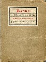 NYSL Decorative Cover: Books in black or red.