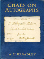 NYSL Decorative Cover: Chats on autographs