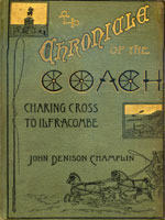 NYSL Decorative Cover: Chronicle of the coach