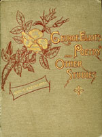 NYSL Decorative Cover: George Eliot's poetry, and other studies.