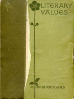 NYSL Decorative Cover: Literary values, and other papers.