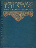 NYSL Decorative Cover: Reminiscences of Tolstoy