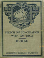 NYSL Decorative Cover: Speech on conciliation with America