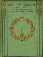 NYSL Decorative Cover: William Callow, R.W.S., F.R.G.S.